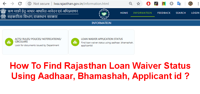 Find Rajasthan Loan Waiver Status Using Aadhaar list