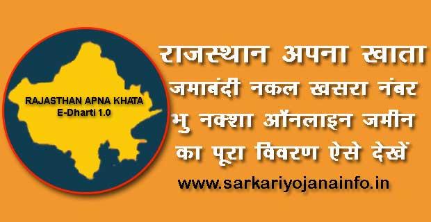 Rajasthan Apna khata Portal