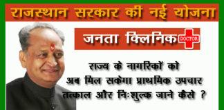 Rajasthan Janta Clinic Yojana