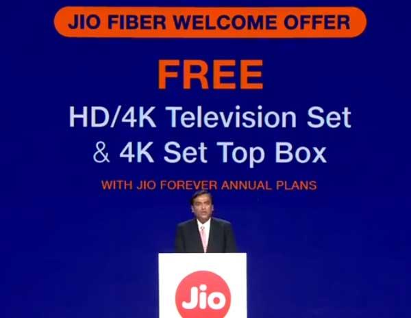 Jio fiber  Welcome Offer