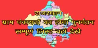 Rajasthan Panchayat Punargathan List