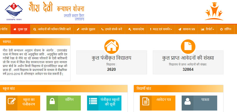 Gaura Devi Kanya Dhan Yojana Uttarakhand Eligibility Application Form and Last Date