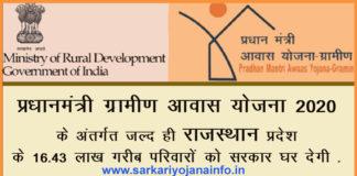Pradhan Mantri Gramin Awas Yojana Rajasthan
