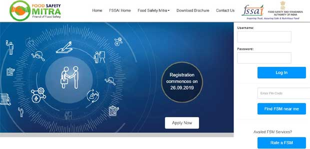 Food Safety Mitra Official Portal FSSAI.GOV.IN