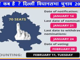 दिल्ली विधानसभा चुनाव 2020