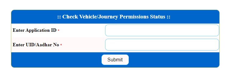 Check Vehicle Journey Permission Status