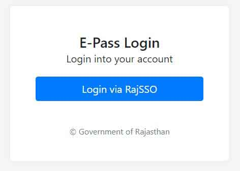 Corona Lockdown E-Pass in Rajasthan