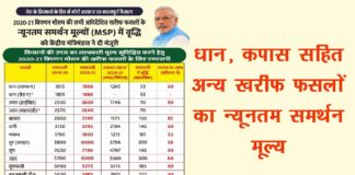 Kharif Crops Prices MSP 2020