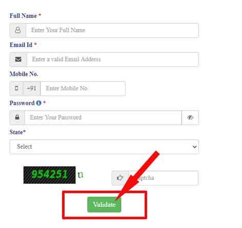 citizen Registration form saral haryana