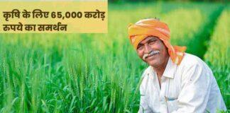 ₹65000 करोड़ फर्टिलाइजर सब्सिडी का किया ऐलान