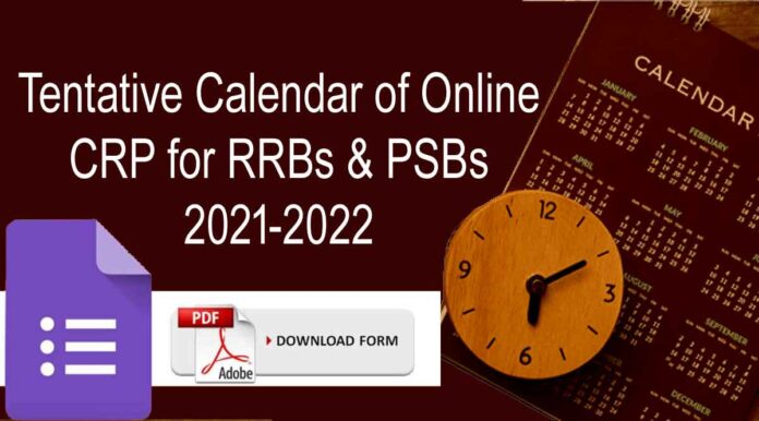 IBPS Calendar 2021-22 PDF Download