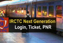 IRCTC Next Generation check eTicketing Login Ticket PNR
