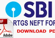 SBI RTGS NEFT Form PDF Download