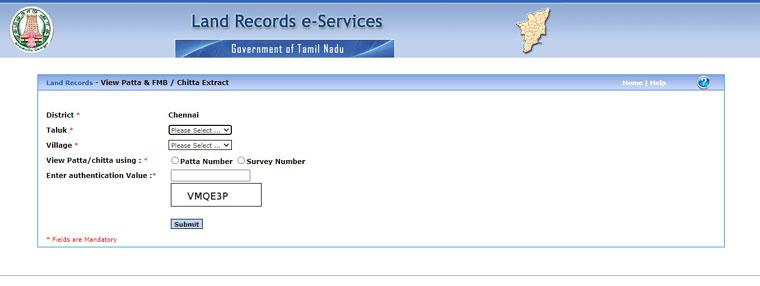 Step 3 To Apply For Patta Chitta Online in Tamilnadu