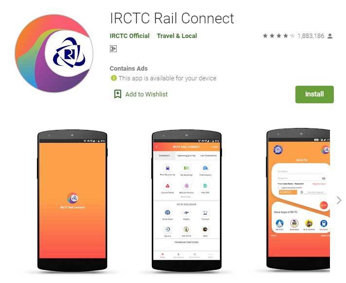 irctc app download for android mobile