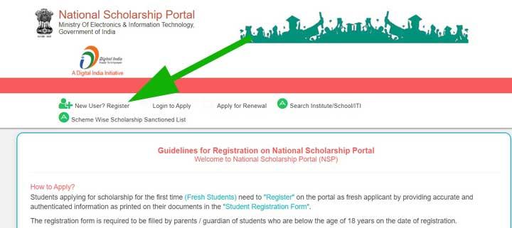 nsp new registration