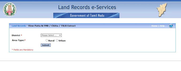 Land Records e Services Registration