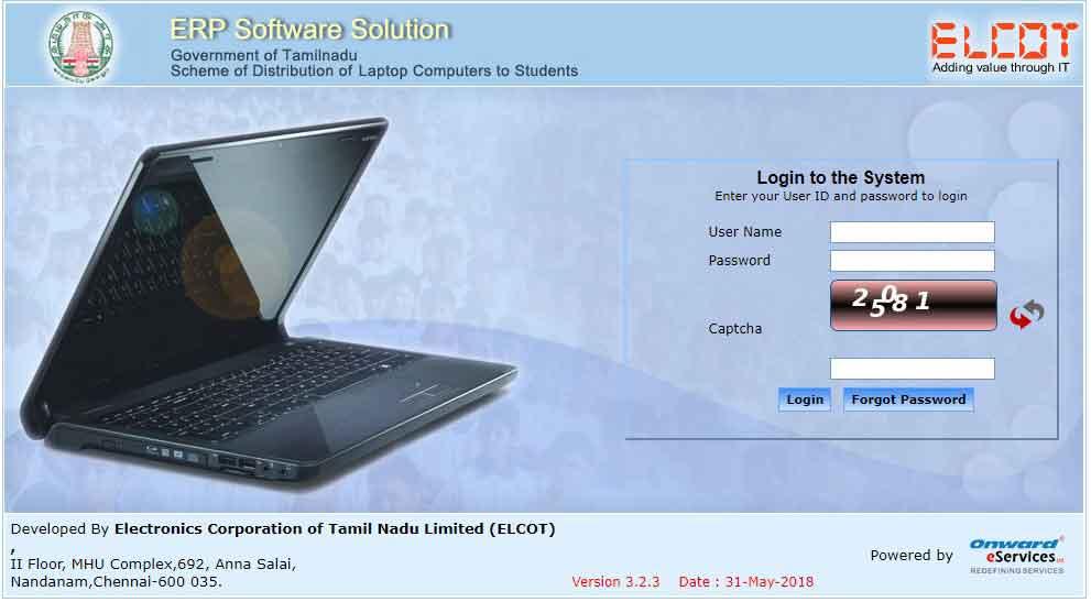 tamilnadu free laptop scheme online registration