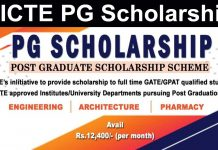 AICTE Guidelines FOR PG Scholarship