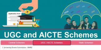 UGC and AICTE Scholarship Scheme